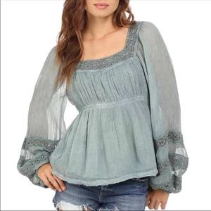 Free People Moonchaser lace blouse